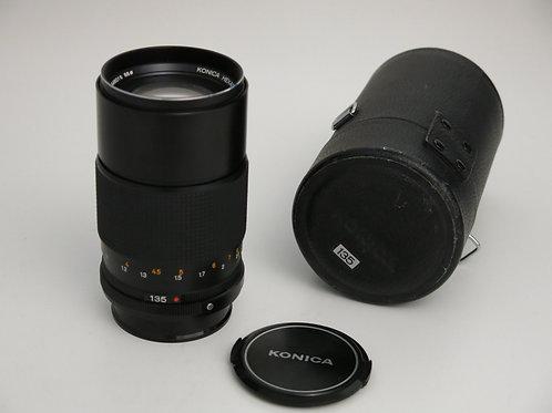 Konica Hexanon AR 135 F3.2 Prim Lens in mint condition