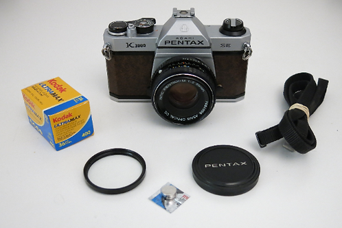 PENTAX K1000 SE edition Brown Leather + SMC 50mm f 2.0 lens