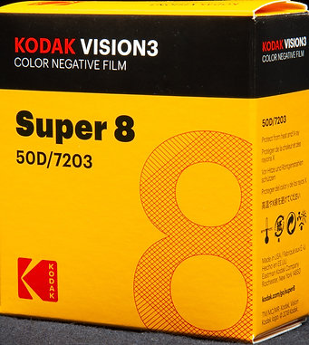 Kodak VISION3 Color Negative Film Super 8 - 50D/7203