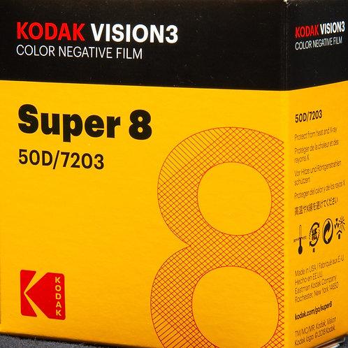 Kodak VISION3 Color Negative Film Super 8 - 50D/7203