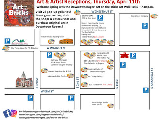 Downtown Rogers April 11 Art Walk Showcases Art and Opportunity: Historic properties for lease featu