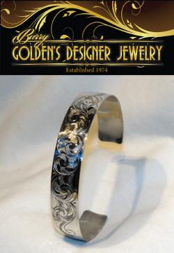 Hand-engraved Sterling Bracelet