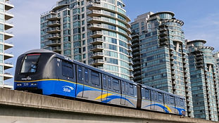 Picture of Skytrain heading to Lougheed Dental Centre