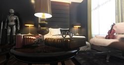 Bedroom photo realistic render