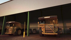 Giant Mining Dump Truck in Shed