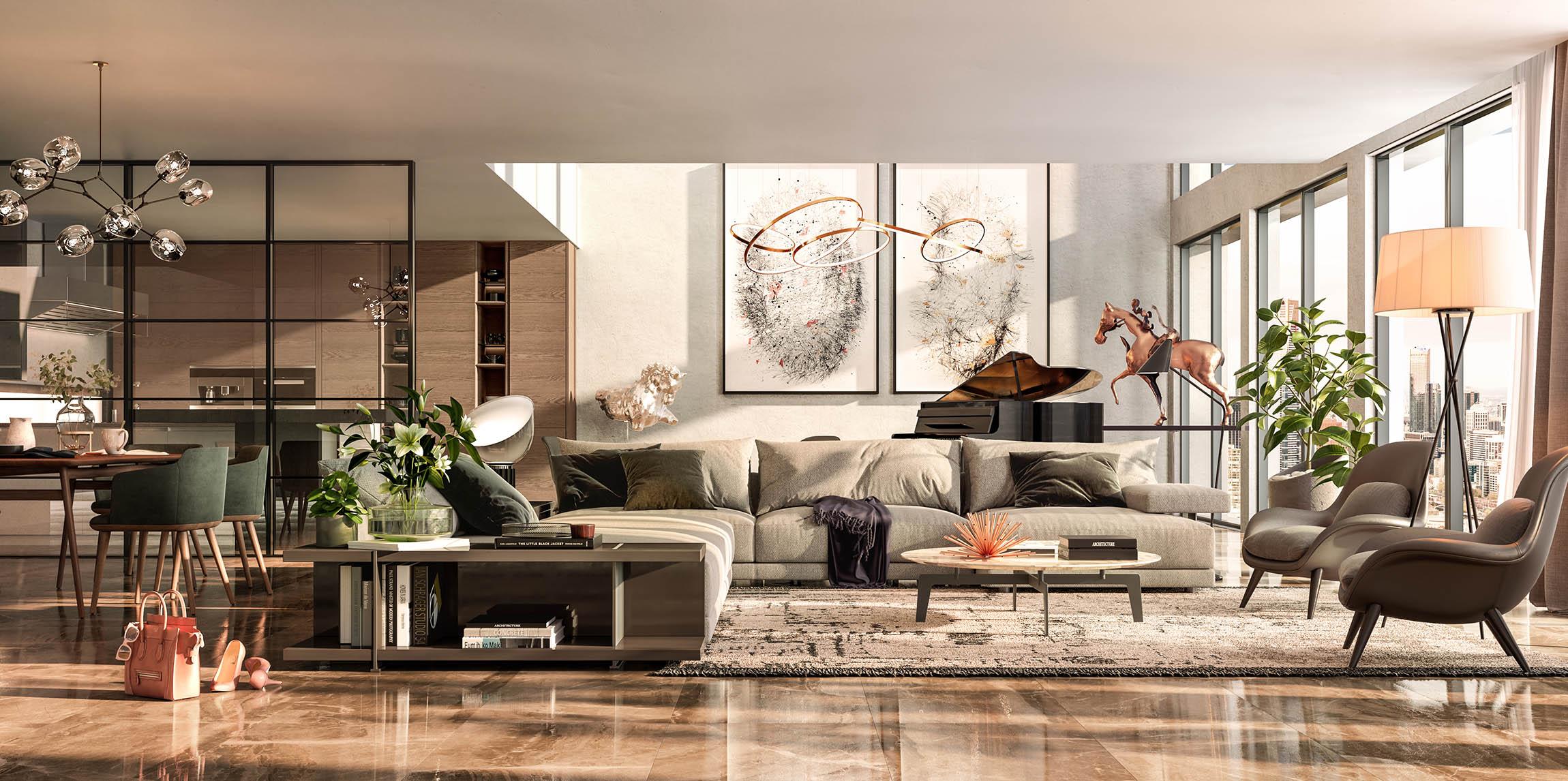 Luxury Apartment Living Room