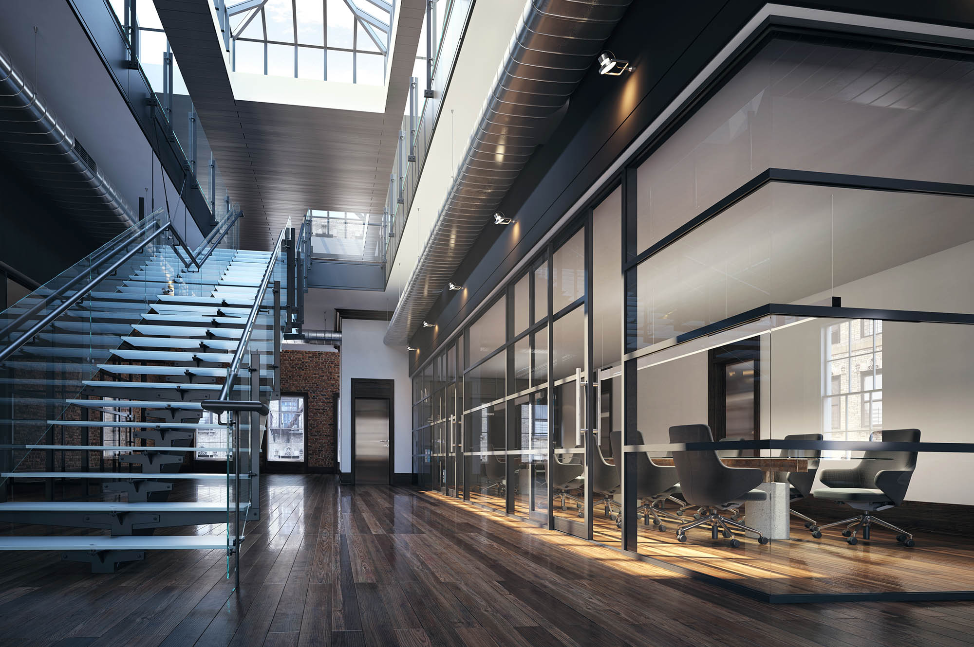3d+render+in+Melbourne+of+interior+office+studio+partition+system