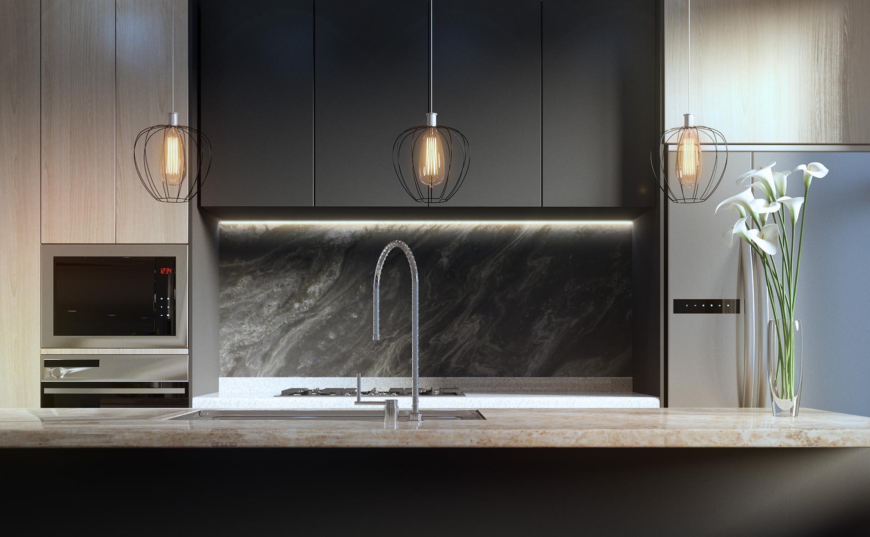 Kitchen photo realistic render