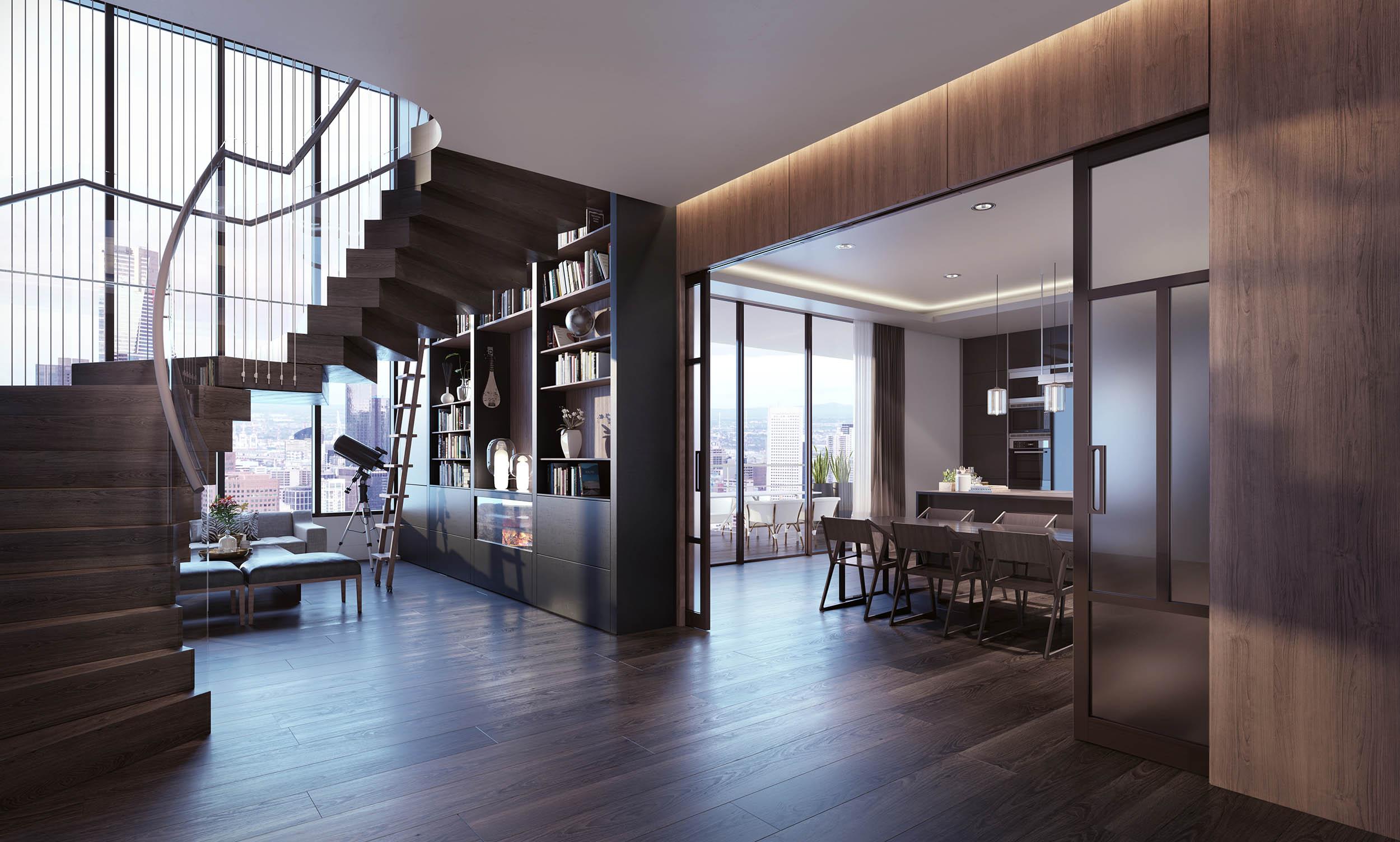 3d+rendering+melbourne+luxury+apartment+premium+visualisation+city+view