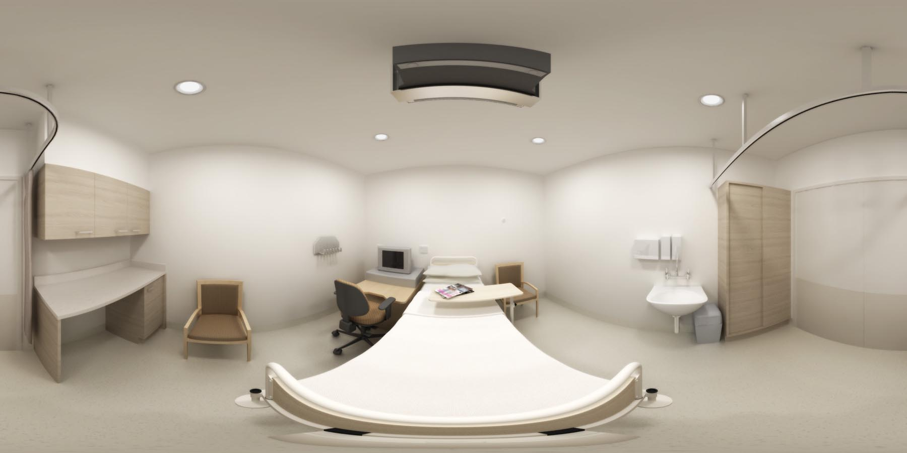 360 VR_bedroom health care hospital