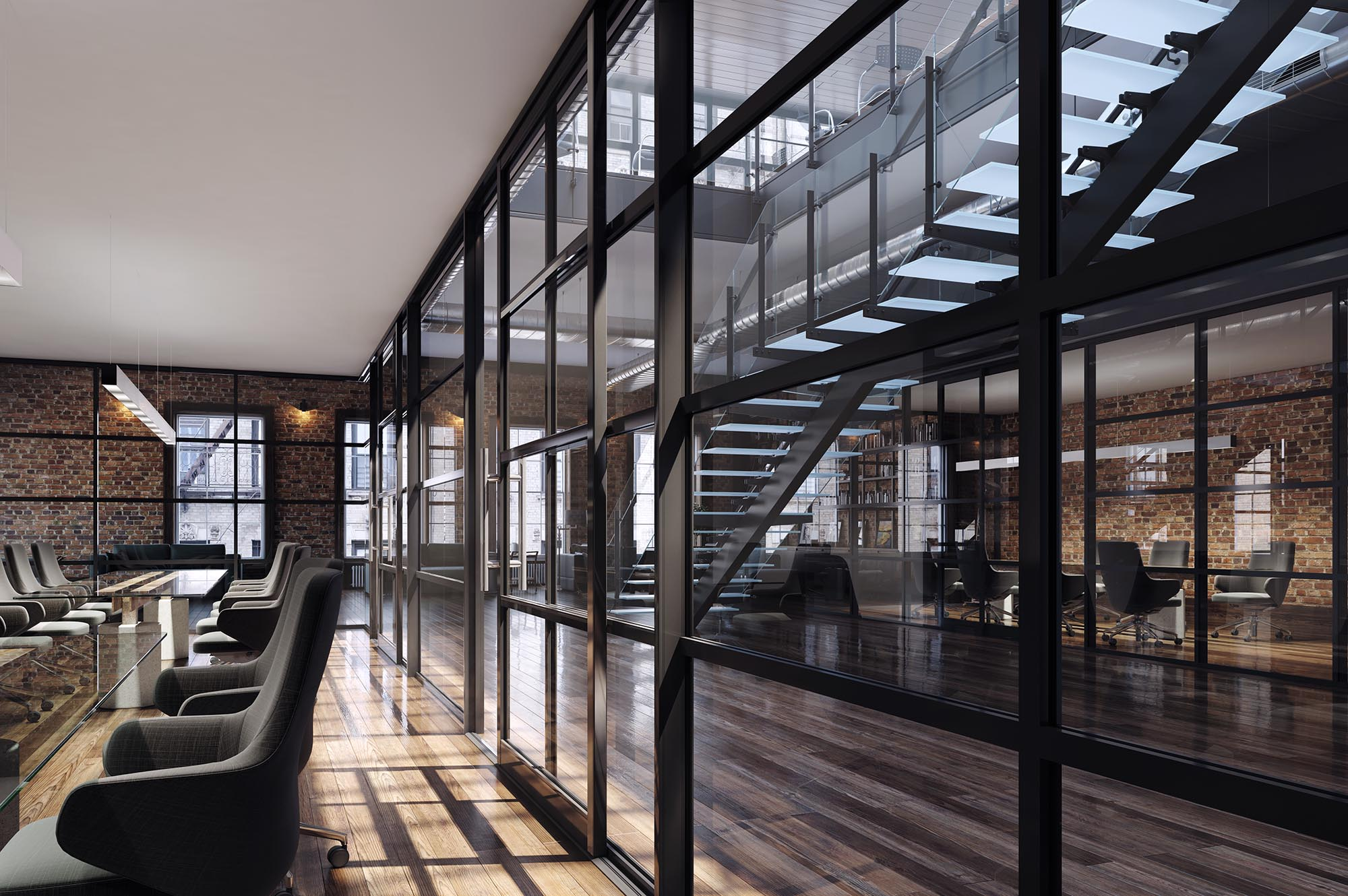 3d+render+in+Melbourne+of+interior+office+partition+system