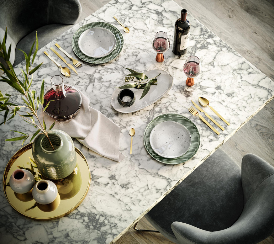 Marble Dining Table_Wine_Decoration_Luxu