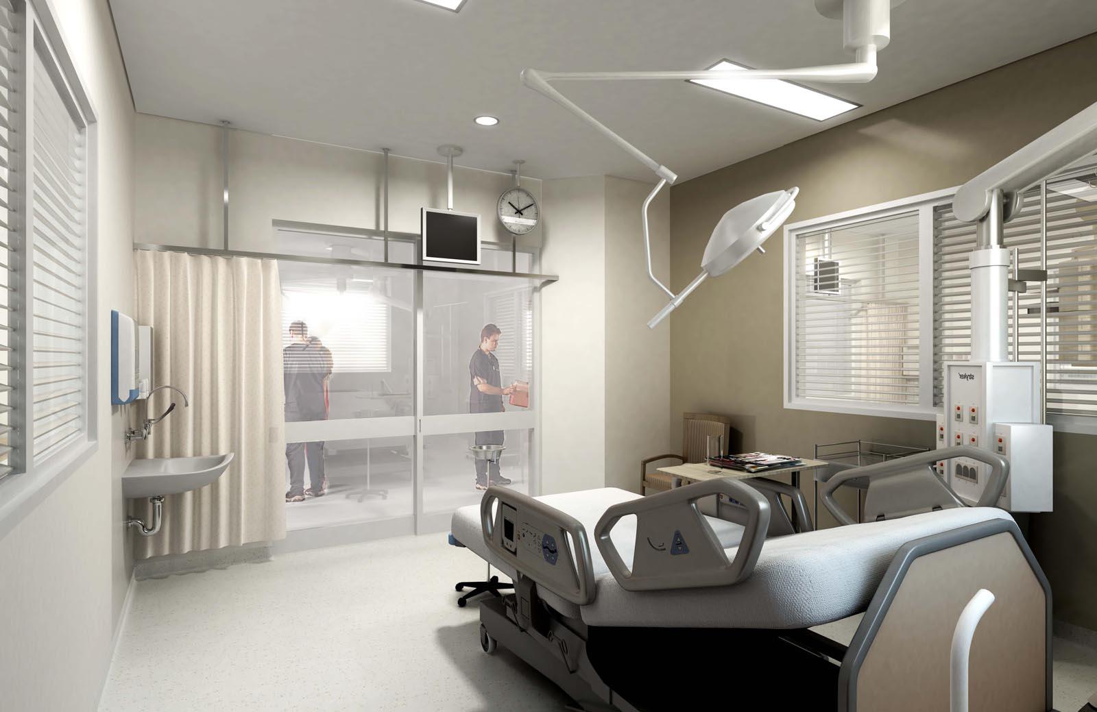 ICU Bedroom rendering