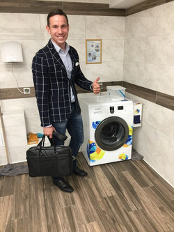 стиральная машинка с купюроприемником