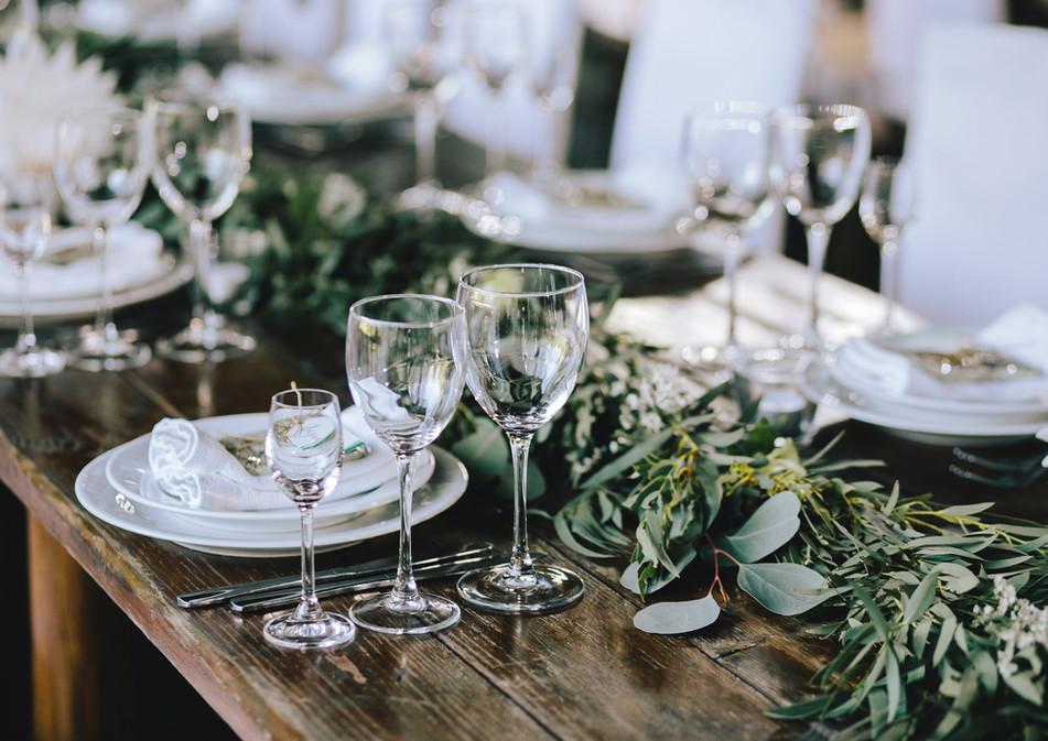 Svatební tabule eukalyptus