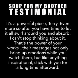 Soup For My Brother Testimonial 1