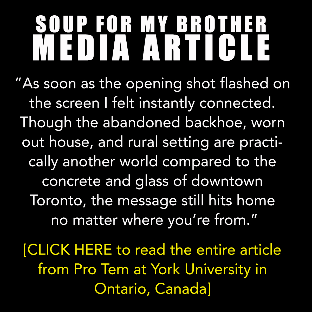 Pro Tem Article - Soup For My Brothe