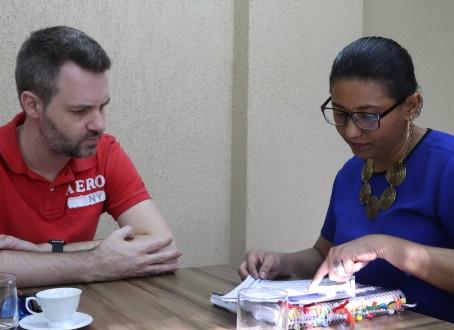 Vereador verifica demandas com secretária da Educação