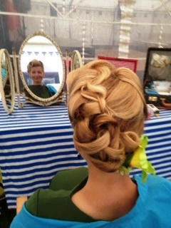 Vintage hair styling