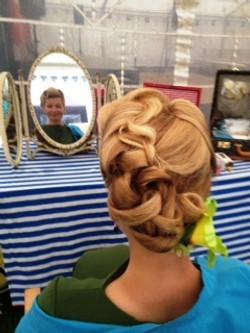 Vintage hair styling
