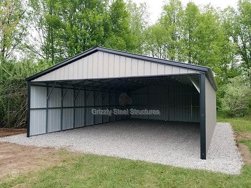 28' x 50' x 10' All- Vertical Roof Carport