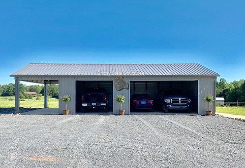 24' x 50' x 9' All-Vertical Garage W/ Porch