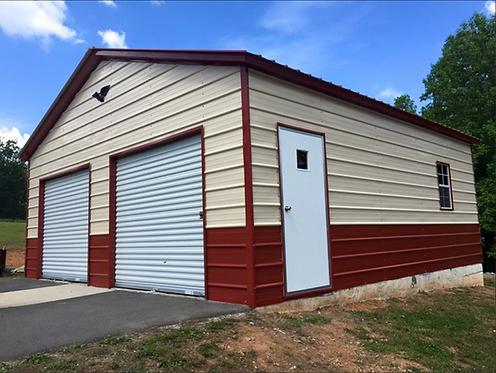 22' x 25' x 10' Vertical Roof Garage