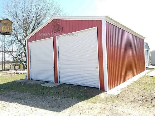 24' x 41' x 11' All-Vertical Roof Garage