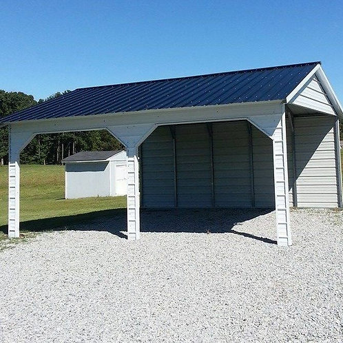 22' x 25' x 9' Vertical Roof Side-Entry Carport