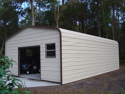 18' x 31' x 8' Regular Roof Metal Garage