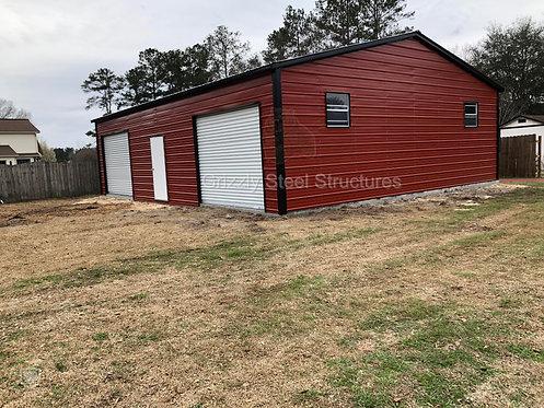 24'W x 36'L x 9'H Vertical Roof Garage