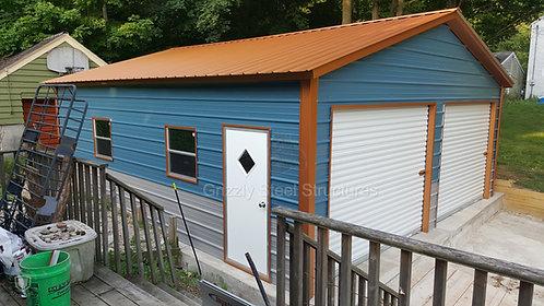 20' x 36' x 9' Vertical Two-Tone Garage