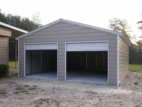 24' x 26' x 9' Vertical Roof Metal Garage