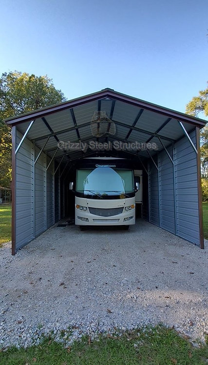 18' x 45' x 14' Vertical Roof RV Cover