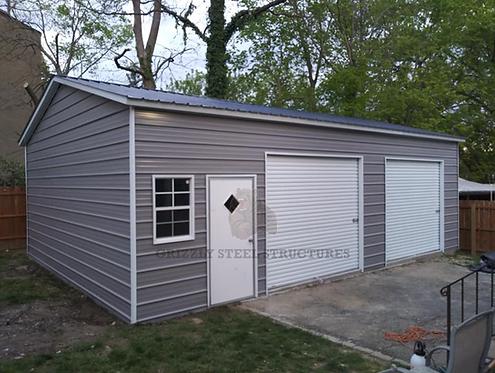 22' x 30' x 10' Vertical Roof Garage