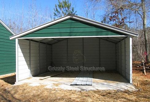 18' x 20' x 7' Vertical Three-Sided Carport