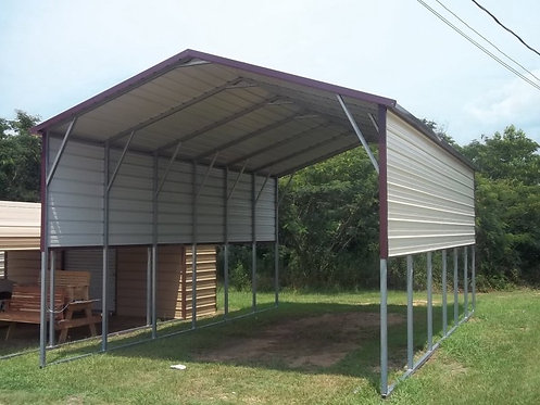 18' x 30' x 12' A-Frame Horizontal Roof RV Cover