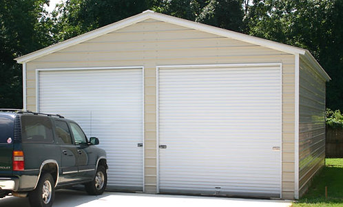 24' x 36' x 11' Vertical Roof Garage