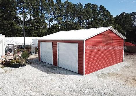 24' x 31' x 9' Vertical Roof Garage