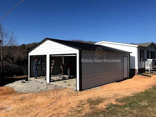 24' x 26' x 9' Vertical Roof Garage