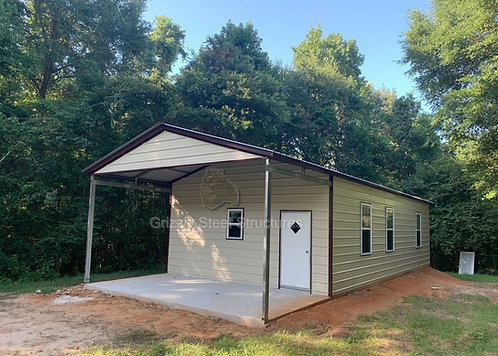 20' x 51' x 10' Vertical Garage W/ Porch