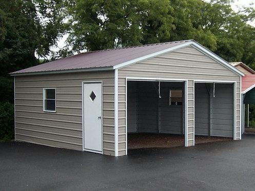 22' x 21' x 9' Vertical Roof Garage