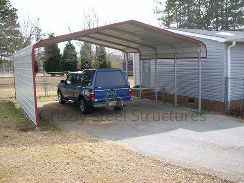 18' x 20' x 9' Regular Roof Two Car Carport