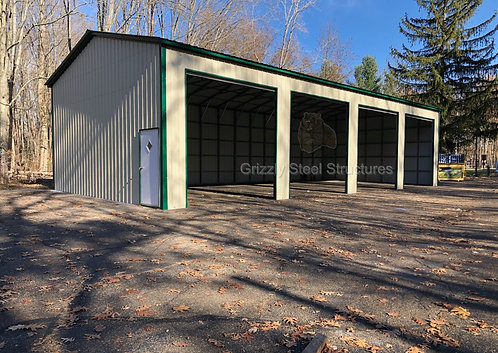 30' x 71' x 14' All-Vertical Roof Garage