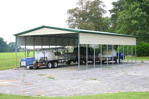 24' x 50' x 11' Vertical Roof Metal Carport