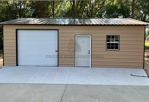 20' x 30' x 9' Vertical Roof Garage