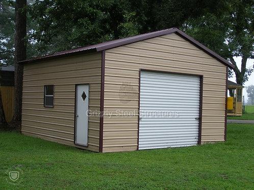 18' x 20' x 10' Vertical Roof Garage
