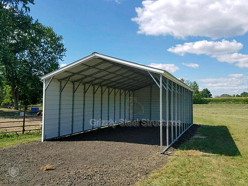 20' x 40' x 9' Vertical Roof Metal Carport
