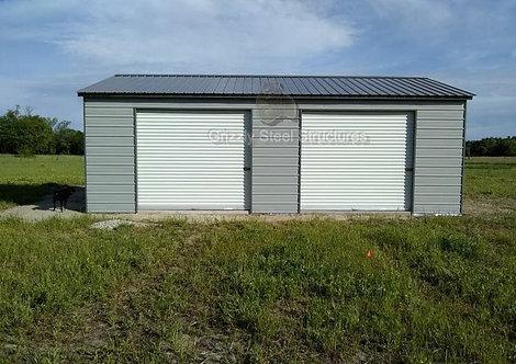 22' x 36' x 9' Vertical Roof Garage