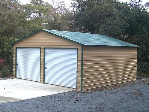 24' x 26' x 9' A-Frame Horizontal Metal Garage